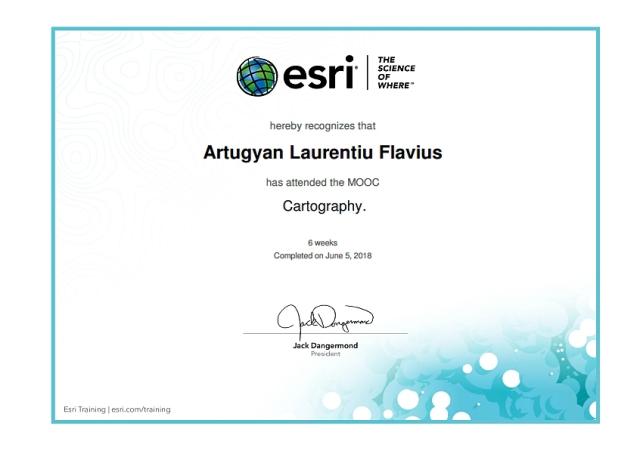 Certificat ESRI