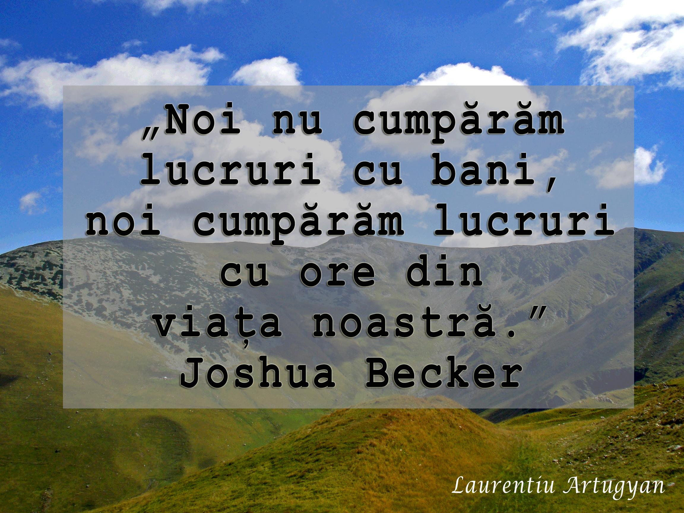 Citat Joshua Becker
