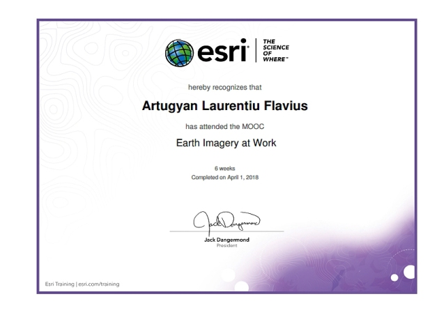 Earth Imagery at Work ESRI Certificate