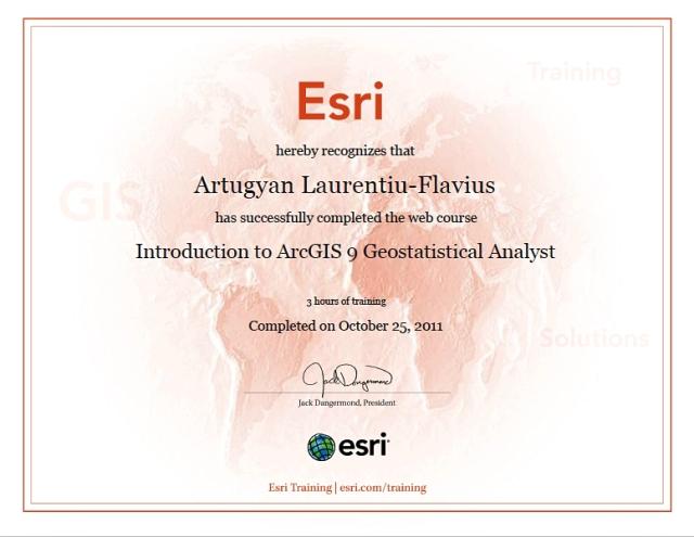 Geostatistical Analyst ESRI