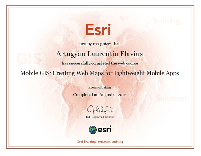 GIS for mobile Certificate