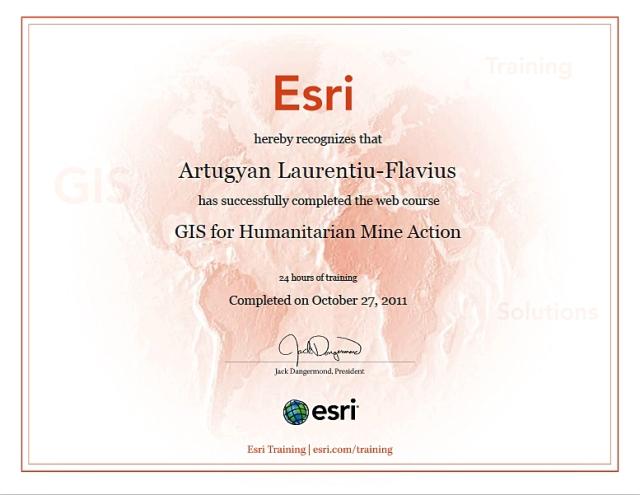GIS Humanitarian Mine Action ESRI