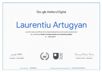 Google Certificat - Marketing Digital