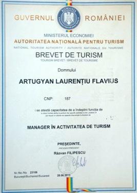 Laurentiu Artugyan Brevet Turism
