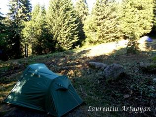 In camping la Pietrele-Retezat