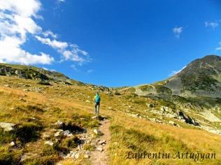 Urcarea spre Saua Bucurei