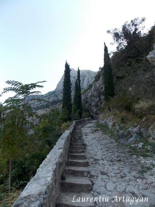 La urcarea spre Cetatea Kotor