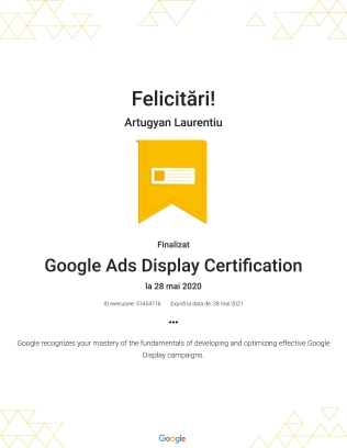 Google Ads Display Certification : Google