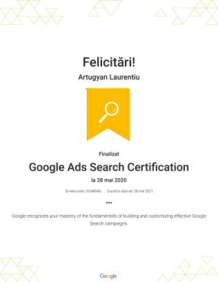 Google Ads Search Certification : Google